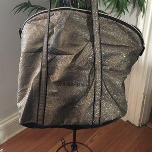 Victoria's Secret big gold glittery overnight bag